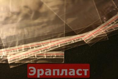 Полипропиленовый пакет с липким клапаном-30х35+5
